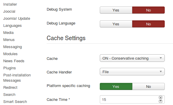 Platform Specific Caching