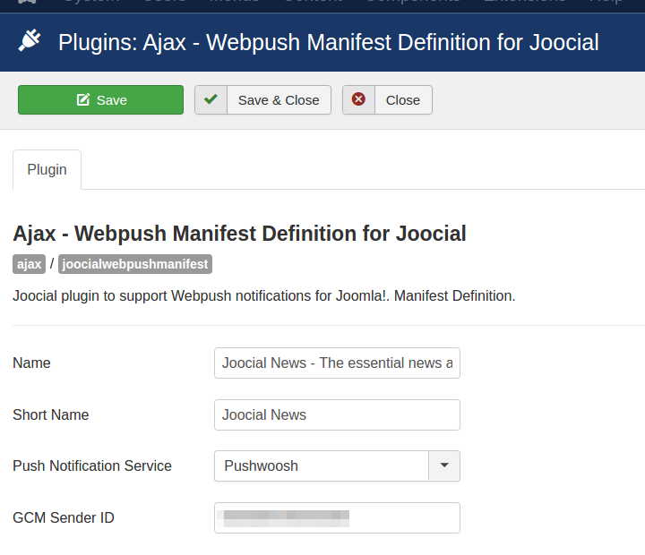 Enable Webpush Manifest Definition