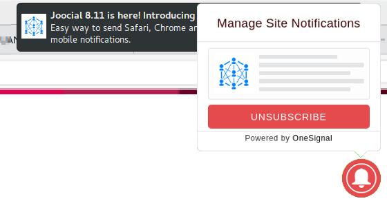 Web Push Notifications for Joomla!