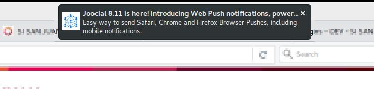 Web Push notification in a desktop browser
