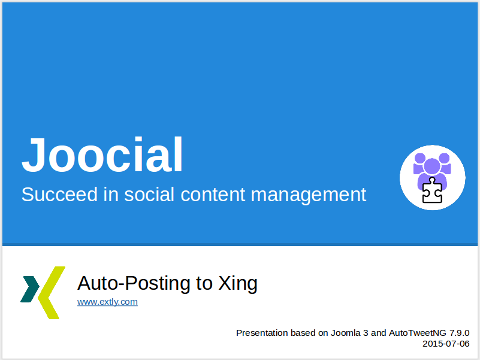 AutoTweetNG Joocial: auto-posting to Xing