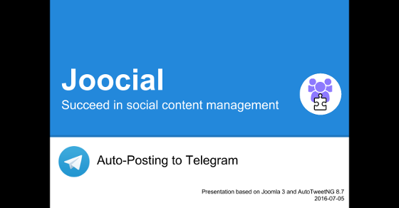 AutoTweetNG Joocial: auto-posting to Telegram