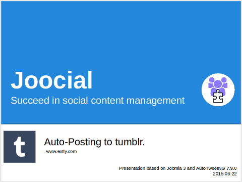 AutoTweetNG Joocial: auto-posting to tumblr.