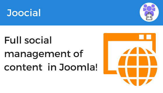 Full social management of content in Joomla 560