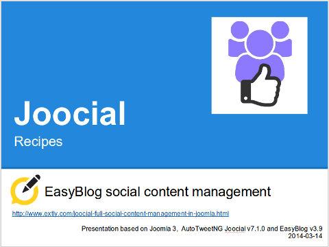 Joocial - EasyBlog social content management