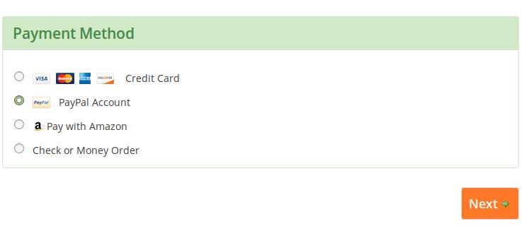 PayPal - Step 1
