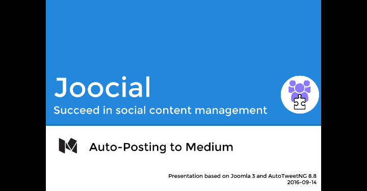 AutoTweetNG Joocial: Auto-Posting to Medium
