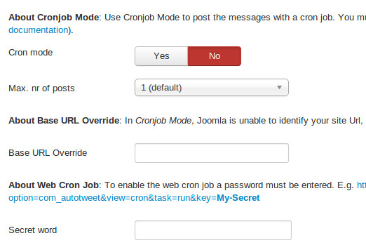 Enable Cron mode