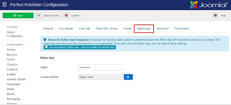 Editor App Integration