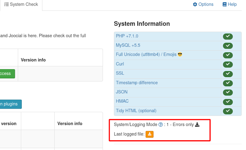 System Check - xt-logging.log