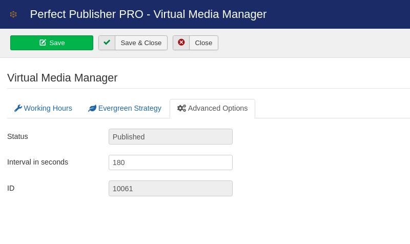 Perfect Publisher - Advanced Options