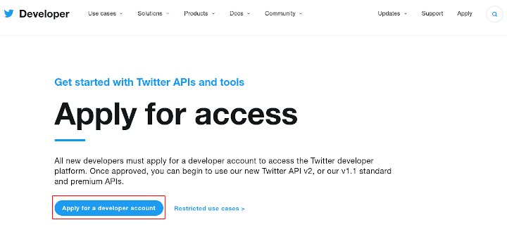 Apply for a Developer Account
