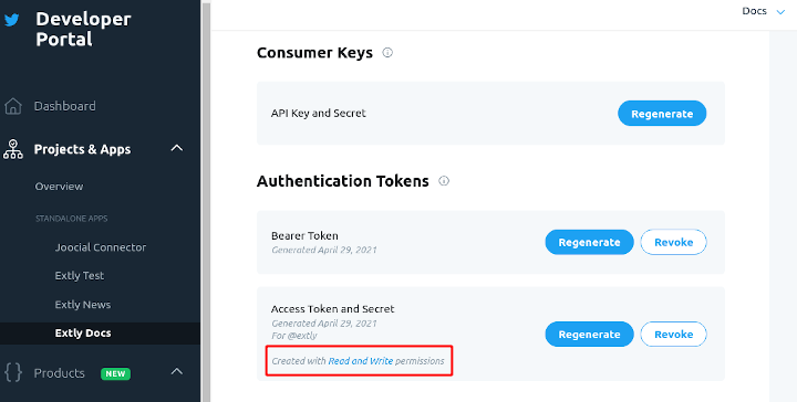Create Access Tokens