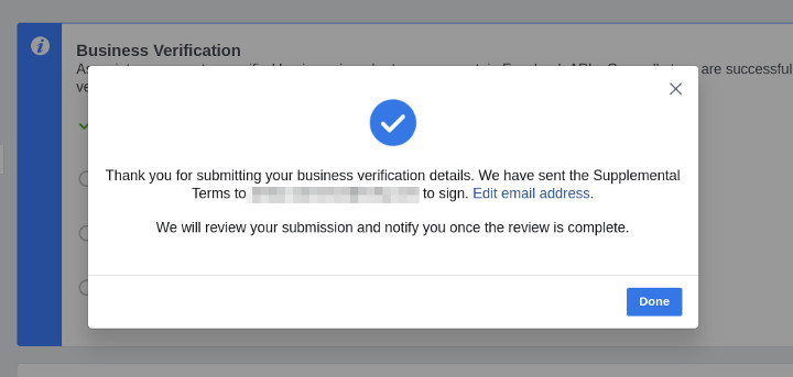 Business Verification - Step 4