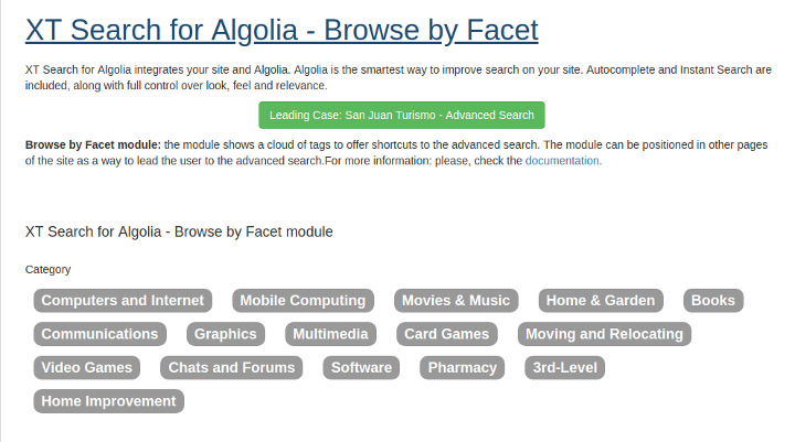 Browse by Facet Module